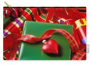 Christmas Wrap With Heart Ornament Carry-all Pouch