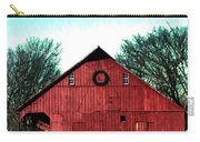 Christmas Wreath On Red Barn Carry-all Pouch