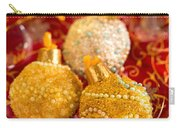Christmasball Cupcakes In Red Carry-all Pouch