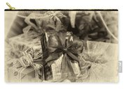 Christmasgift Under The Tree In Sepia Carry-all Pouch