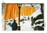 Christo - The Gates - Project For Central Park In Snow Carry-all Pouch