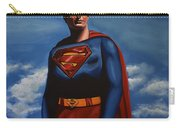 Christopher Reeve As Superman Carry-all Pouch by Paul Meijering