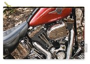 Chrome And Red Carry-all Pouch
