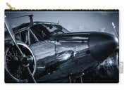 Chrome Twin-engined Beauty Carry-all Pouch