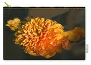 Chrysanthemum Gently Floating In The Fountain Of Campo De Fiori - Rome - Italy Carry-all Pouch