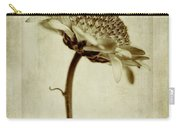 Chrysanthemum In Sepia Carry-all Pouch