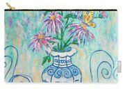 Chrysanthemum Study With Chinese Symbols  Carry-all Pouch