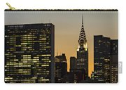 Chrysler And Un Buildings Sunset Carry-all Pouch