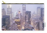 Chrysler Building And Skyscrapers Covered In Snow - New York City Carry-all Pouch