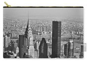 Chrysler Building New York Black And White Carry-all Pouch