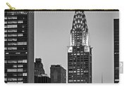 Chrysler Building New York City Bw Carry-all Pouch