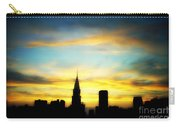 Chrysler Skyline With Incredible Sunset Carry-all Pouch