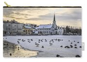 Church By Tjornin Pond Carry-all Pouch