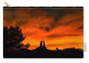 Church Cross Lit By Tucson Sunset Carry-all Pouch