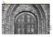 Church Door Monochromatic Carry-all Pouch by Antony McAulay
