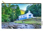 Church In The Mountains By The River Carry-all Pouch