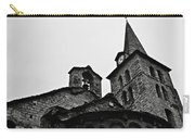 Church Of The Assumption Of Mary In Bossost - Abse And Tower Bw Carry-all Pouch
