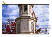 Church Steeple In Autumn Blue Sky Clouds Fine Art Prints As Gift For The Holidays Carry-all Pouch