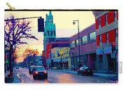 Church Street In Winter Melting Snow Sunset Reflections Montreal Urban City Landscape Scene Cspandau Carry-all Pouch