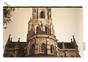 Church Towere In Sepia 1 Carry-all Pouch