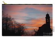 Church With Orange Sky Carry-all Pouch