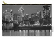 Cincinnati Black And White Night Carry-all Pouch
