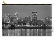 Cincinnati Black And White Panoramic View Carry-all Pouch