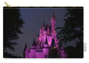 Cinderella Castle Illuminated In Pink Glow Carry-all Pouch