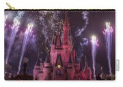 Cinderella's Castle With Fireworks Carry-all Pouch by Adam Romanowicz