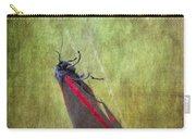 Cinnabar Moth Art Texture Wall Decor. Carry-all Pouch