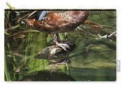 Cinnamon Teal Duck With Reflection Carry-all Pouch