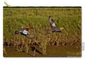 Cinnamon Teal Pair In Flight Carry-all Pouch