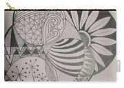 Circles Of Zen Tangle Carry-all Pouch