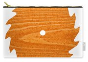 Circular Saw Blade With Pine Wood Texture Carry-all Pouch