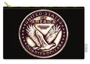 Circulated Standing Liberty  Reverse Carry-all Pouch