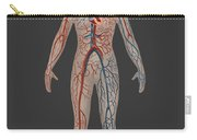 Circulatory System In Female Anatomy Carry-all Pouch