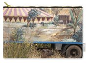circus circus 2 - A vintage circus wagon with african paint and llama camel  Carry-all Pouch