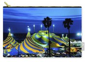 Circus Tent Swirls Of Blue Yellow Original Fine Art Photography Print  Carry-all Pouch
