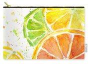 Citrus Fruit Watercolor Carry-all Pouch