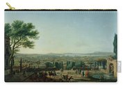 City And Port Of Toulon, 1756 Oil On Canvas Carry-all Pouch