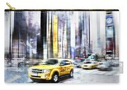 City-art Times Square II Carry-all Pouch by Melanie Viola