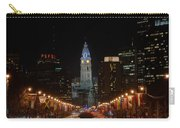 City Hall At Night Carry-all Pouch by Jennifer Ancker