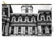 City Hall Philadelphia - Black And White Carry-all Pouch