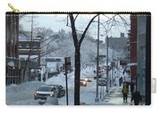 City In Snow Carry-all Pouch
