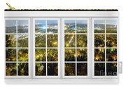 City Lights White Window Frame View Carry-all Pouch