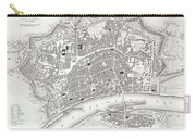 City Map Or Plan Of Frankfort Germany Carry-all Pouch