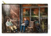 City - New York - Greenwich Village - The Path Cafe  Carry-all Pouch by Mike Savad