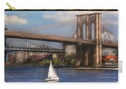 City - Ny - Sailing Under The Brooklyn Bridge Carry-all Pouch