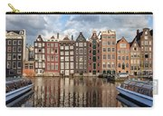City Of Amsterdam At Sunset In Netherlands Carry-all Pouch