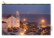 City Of Lisbon In Portugal At Night Carry-all Pouch